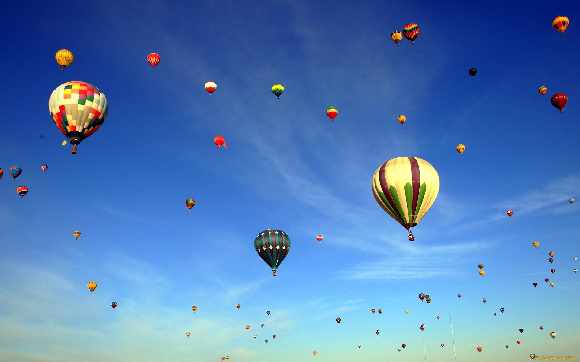 картинки с воздушными шарами в небе его состав